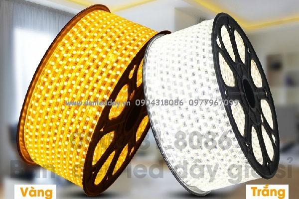 Đèn led dây 5050 màu vàng 220V cuộn 100m