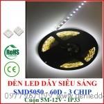 Đèn led dây siêu sáng 5050 3 chíp