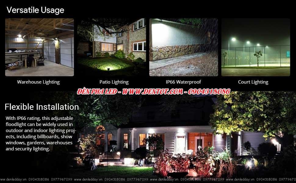 Đèn pha LED chiếu sáng ngoài trời