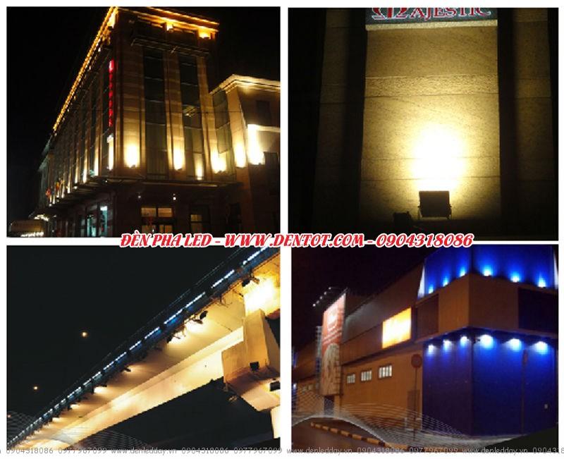 Đèn pha led chiếu sáng công trình xây dựng
