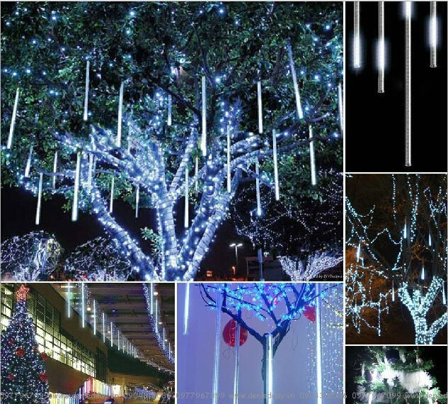 Đèn LED sao băng thả cây ngoài trời