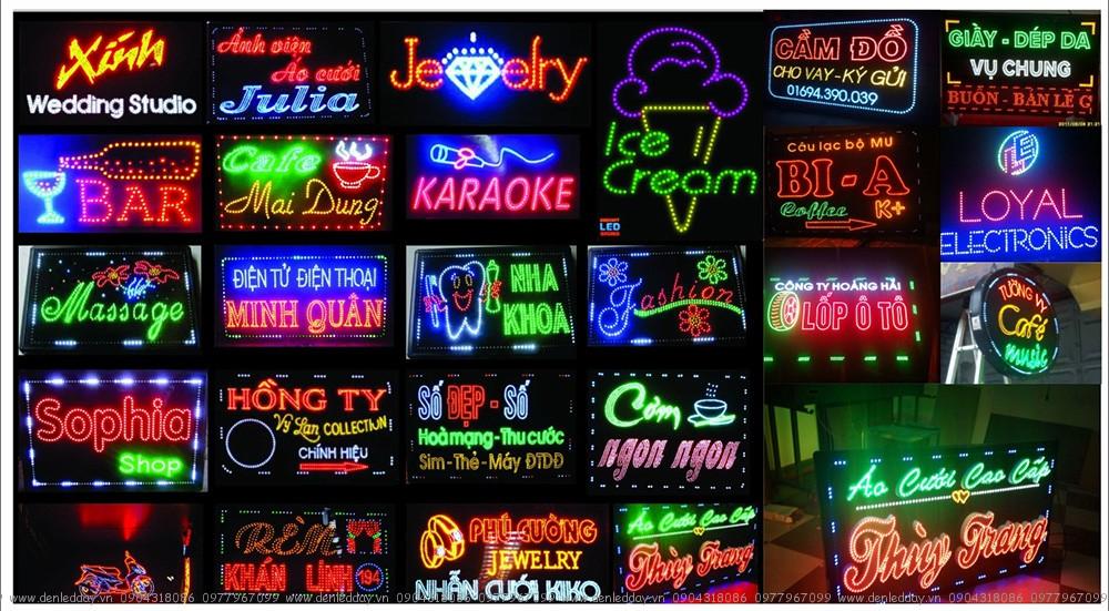 Biển Quảng Cáo sử dụng LED LIỀN DÂY