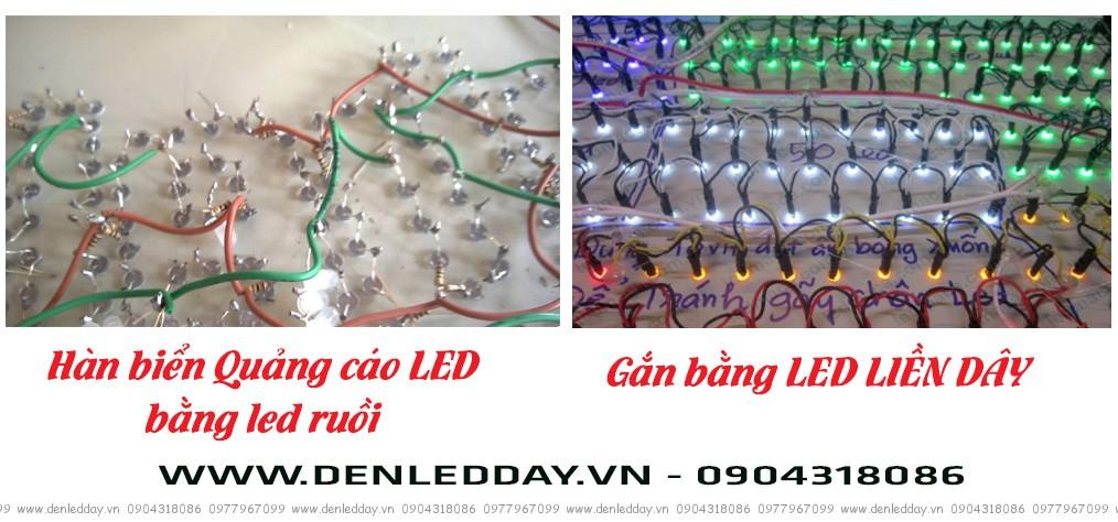 Ưu điểm của LED liền dây so với LED ruồi trong gia công biển quảng cáo