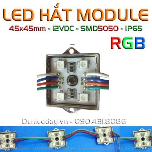 LED module 7 màu RGB 4 bóng