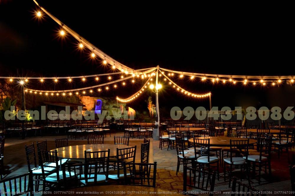 Bóng LED chanh kết hợp dây đui E27 chiếu sáng và trang trí ngoài trời ấn tượng