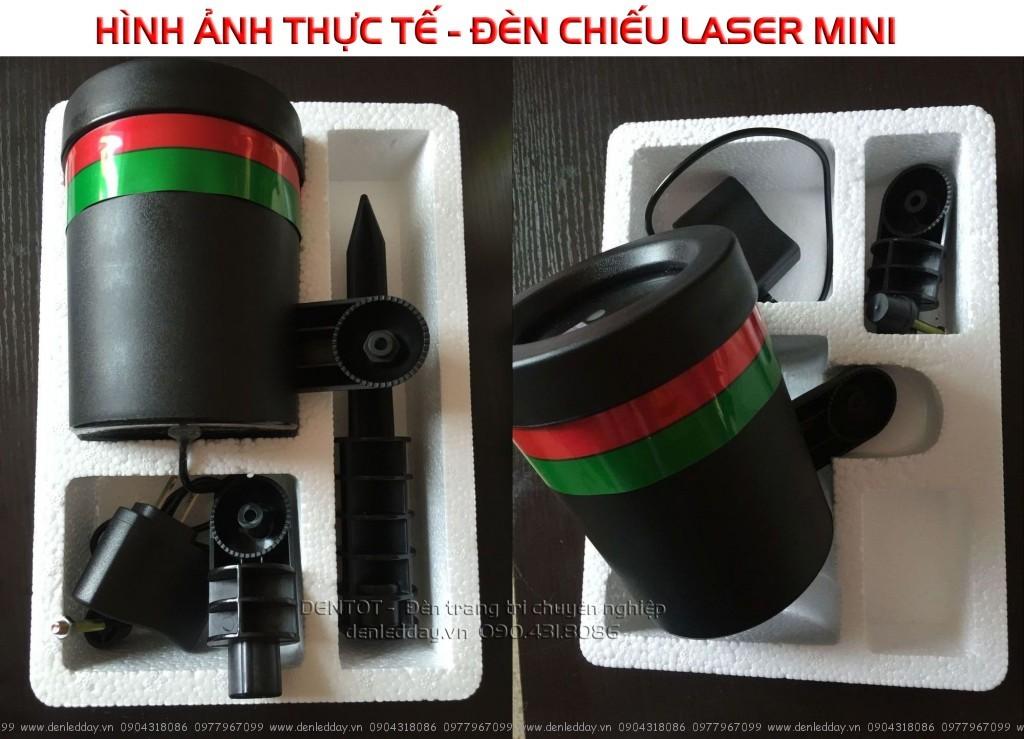 Mở hộp đèn chiếu laser mini