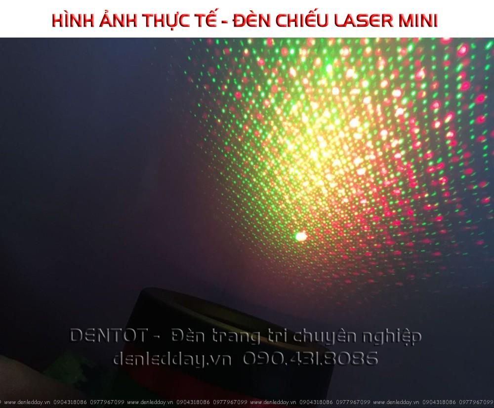Bật tử và Test đèn chiếu laser mini
