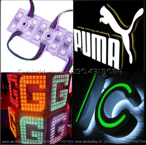 LED 7 màu module hắt chữ Mica