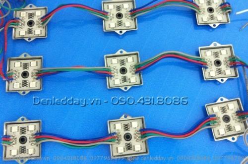 LED hắt module 7 màu vuông đế sắt 5050