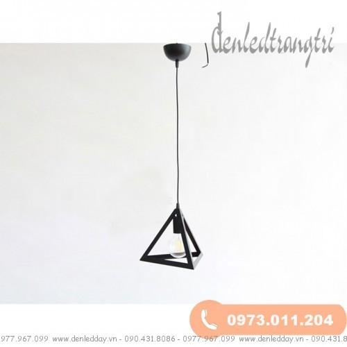 Đèn thả trần khung sắt tam giác DS1B13