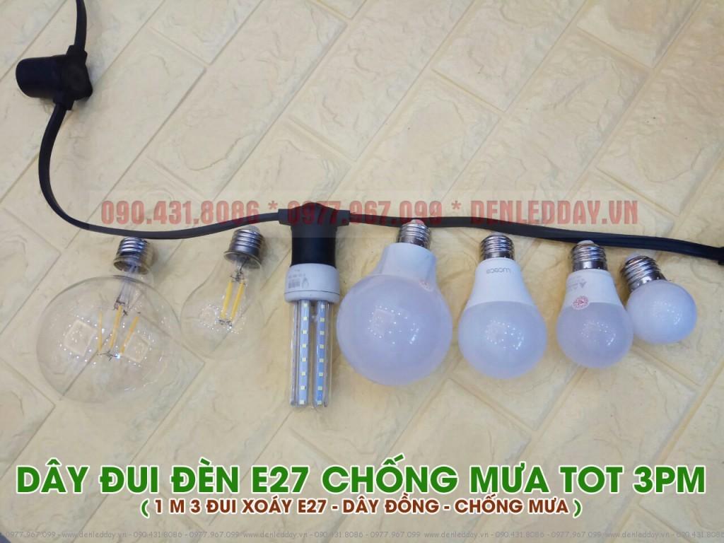 Dây đui đèn ngoài trời 3PM lắp được mọi loại bóng đèn