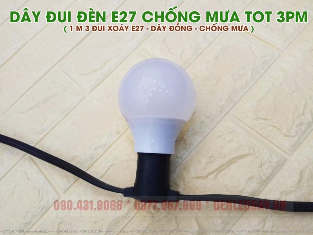 Dây đui đèn ngoài trời kết hợp bóng LED bulb