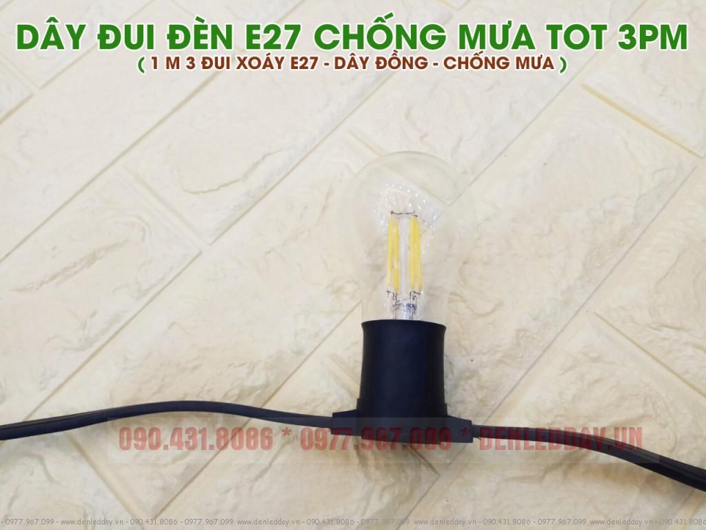Bóng LED Sợi EDISON vỏ thủy tinh
