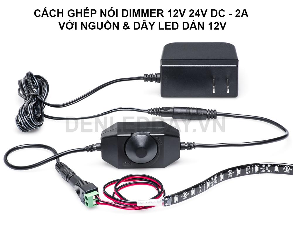 Ứng dụng Dimmer điều chỉnh độ sáng đèn led dây