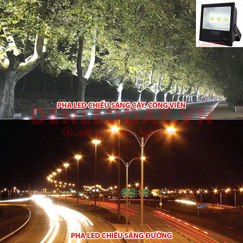 Pha LED chiếu sáng đường phố, công viên