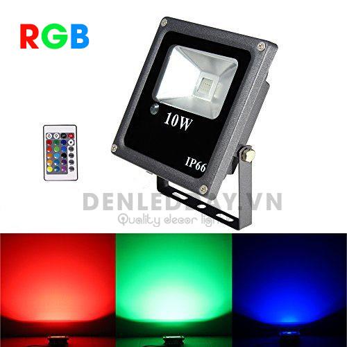 Đèn pha LED đổi màu RGB 10W