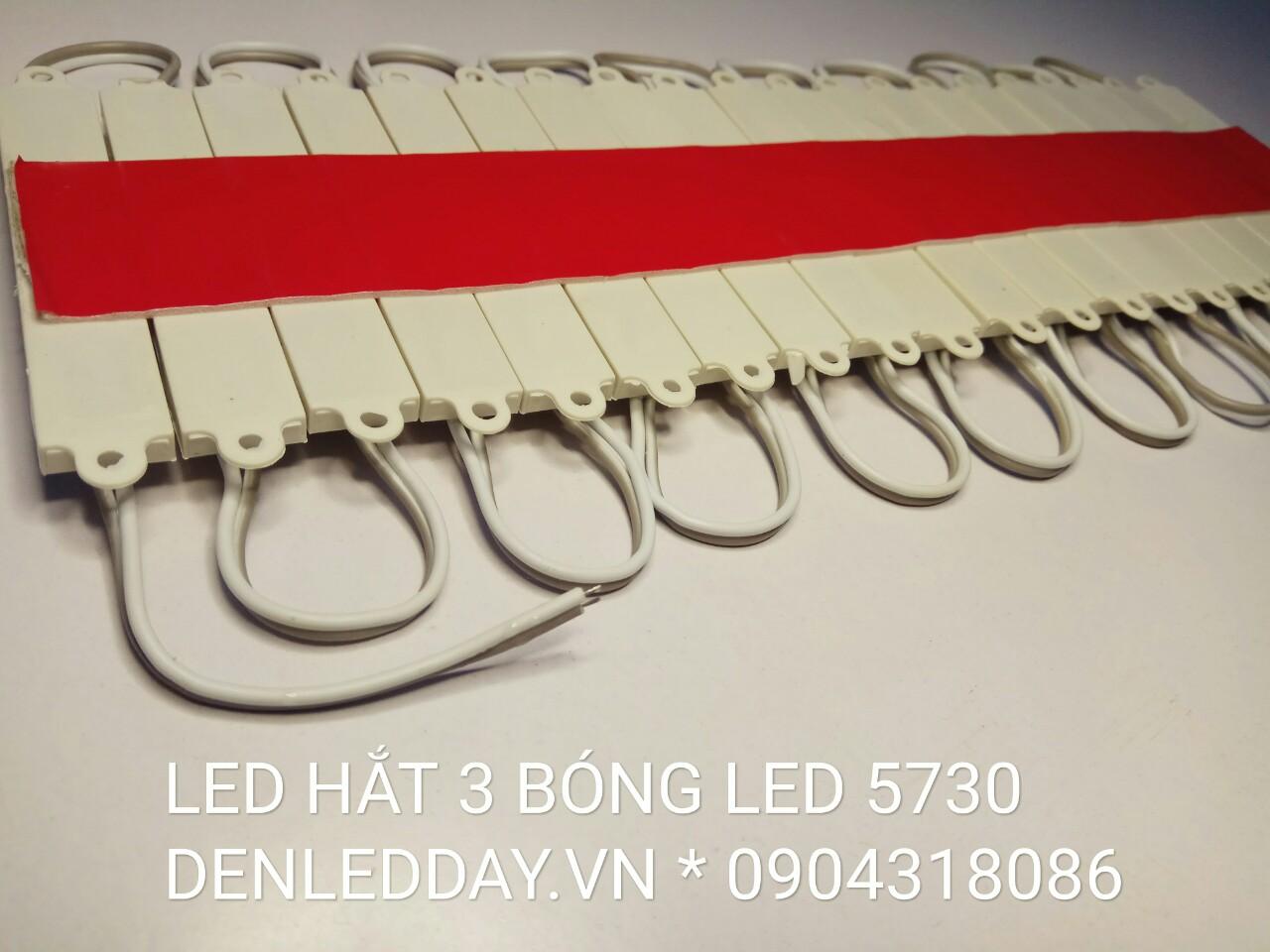 LED Hắt Giá Rẻ - LED 5730 - 3 Bóng 75x12mm 12VDC