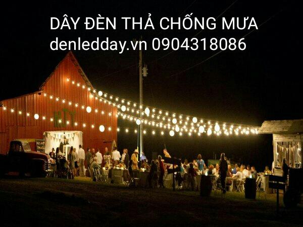 Dây Đèn thả trang trí bóng tròn cổ điển chống mưa tại Hà Đông, Hà Nội
