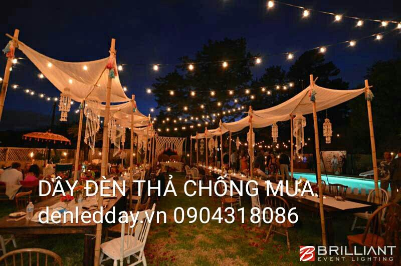 Dây đèn LED bóng tròn E27 Thả ngoài trời tại Hà Đông, Hà Nội