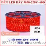 Đèn led dây 5050 loại mạch bé, màu đỏ