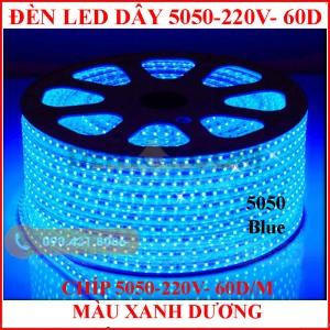 đèn led dây 5050 loại mạch nhỏ, màu xanh dương