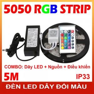 Bộ đèn led dây đổi màu 5050 IP33
