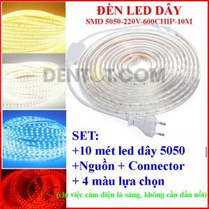 Đèn led dây 220V 10 mét