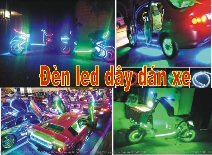 Đèn LED dây dán xe