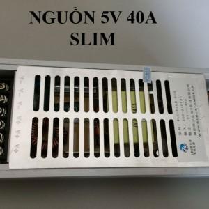 Nguồn 5v 40A mỏng