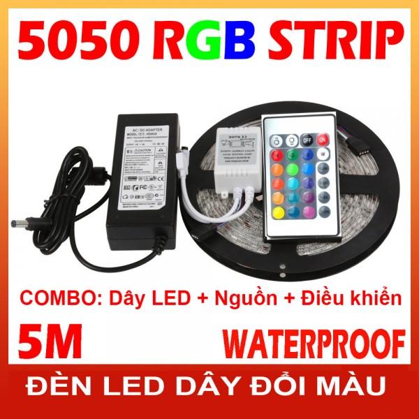 Combo Đèn led dây đổi màu 5050 RGB