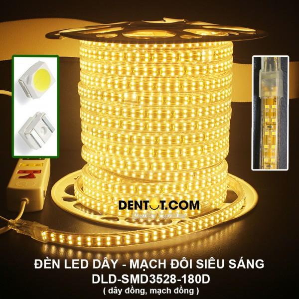 Đèn led dây 3528 mạch đôi siêu sáng