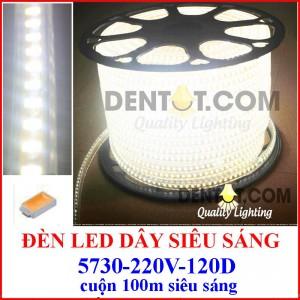 Đèn led dây siêu sáng SMD5730-120D, cuộn 100m