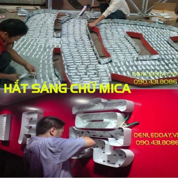 Led module hắt sáng chữ MICA nổi