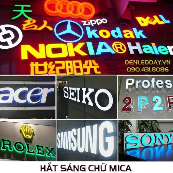 LED hắt chữ Mica