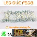 LED đúc F5mm Màu Trắng ấm - Vàng nắng - Warm White