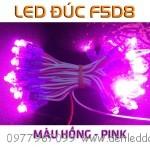 LED đúc F5 màu Hồng