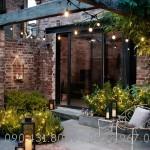 Dây đèn thả đui E27 trang trí Quán Cafe vườn