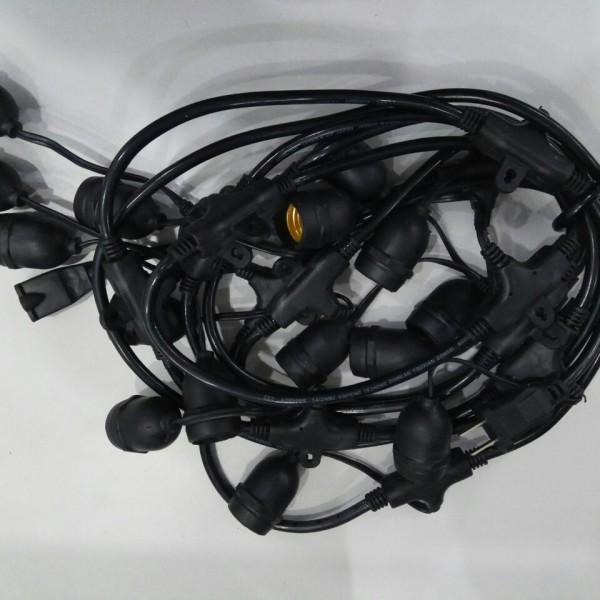Bộ Dây đèn thả có độ dài 5 Mét với 15 đui đèn xoáy E27