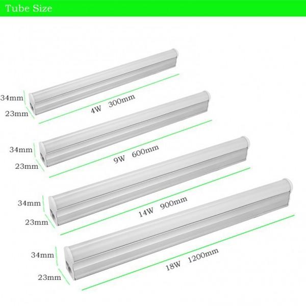 Kích thước tuýp T5 gồm có 30cm, 60cm, 90cm, 120cm