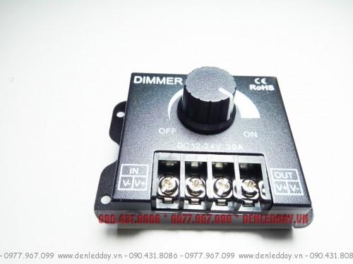 Dimmer LED 12V 24V 30A DC. Thiết bị tăng giảm độ sáng đèn LED