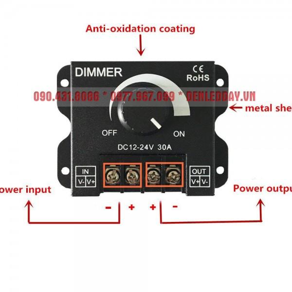 Hướng dẫn lắp đặt Dimmer LED 12V 24V 30A