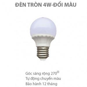 Bóng LED tròn đổi màu 4W