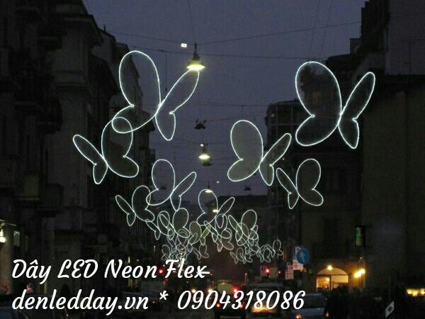 Đèn led neon flex tạo hình bướm đêm