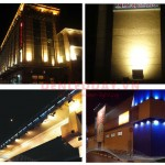 Đèn pha LED hắt tường ngoài trời tòa nhà