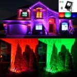 Trang trí chiếu sáng Sân vườn bằng Đèn Pha LED đổi màu RGB