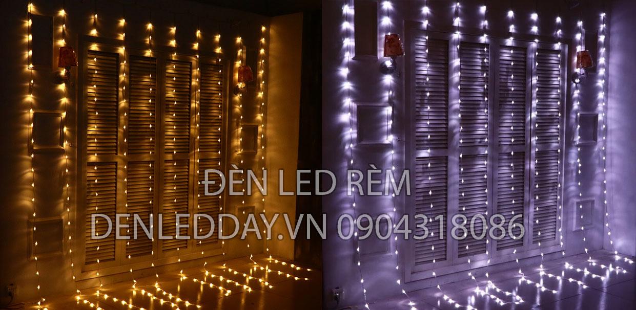Đèn Rèm LED Hiệu ứng thác đổ, mưa rơi, sao băng