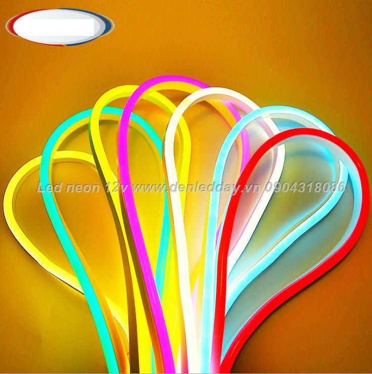 Đèn LED dây Neon 12V uốn chữ decor nội thất ngoại thất chuyên dụng