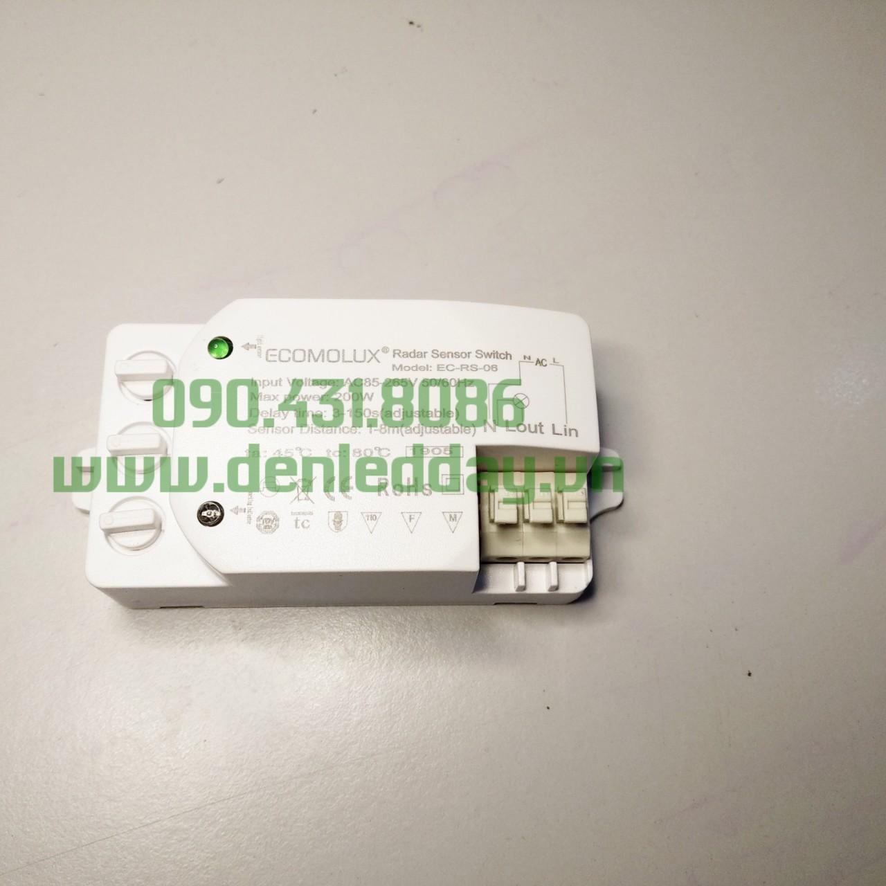 Công tắc cảm biến chuyển động tự động bật / tắt đèn và thiết bị điện công suất Max 200W