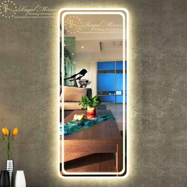Gương đứng soi toàn thân đèn LED cảm ứng thông minh cao cấp